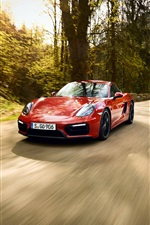 2014 Porsche 911 GTS red coupe speed iPhone wallpaper