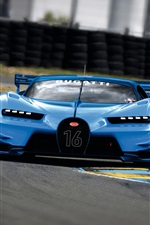 2015 Bugatti Vision Gran Turismo blue supercar iPhone wallpaper