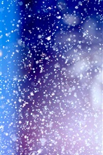 Abstract, color, point, like snow iPhone wallpaper