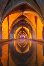 Alcazar, Seville, shapes, design iPhone wallpaper