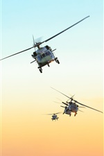 Black Hawk, air force Brazil, sky, helicopter iPhone wallpaper