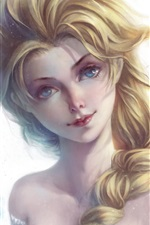 Blue eyes girl, Elsa, Frozen iPhone wallpaper