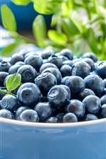 Blueberries, bokeh, bowl iPhone wallpaper