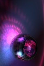 Purple ball light, music, creative iPhone wallpaper