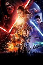 Star Wars: The Force Awakens, 2015 movie iPhone wallpaper
