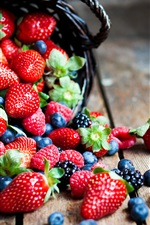 Sweet fruits, strawberries, raspberries, blackberries iPhone wallpaper