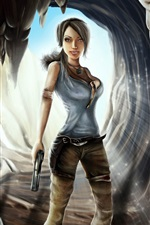 Tomb Raider, Lara Croft, game girl iPhone wallpaper