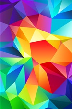 Abstract pictures, polygons, colorful iPhone Wallpaper