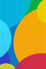 Colorful circles, abstract background iPhone wallpaper