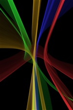 Abstract fractal lines, black background iPhone Wallpaper