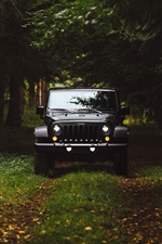 Black Jeep front view iPhone wallpaper