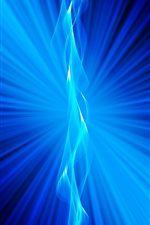 Blue light rays, abstract iPhone wallpaper