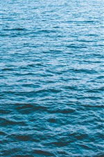 Blue sea, waves iPhone wallpaper
