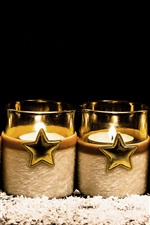 Candles, stars iPhone wallpaper