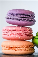 Colorful macaroons iPhone wallpaper