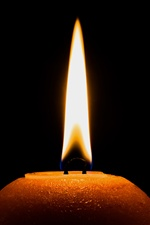 Darkness, candle, fire, flame iPhone wallpaper