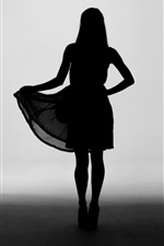 Girl silhouette, skirt iPhone wallpaper