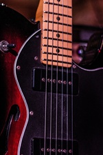 Guitar, bass, musica iPhone wallpaper