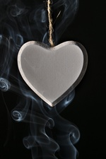 Love heart pendant, smoke iPhone wallpaper