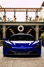 McLaren blue supercar front view iPhone wallpaper