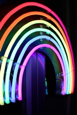 Neon lights, rainbow colors iPhone Wallpaper