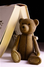 Toy bear and book iPhone wallpaper