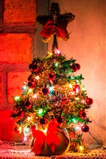 Beautiful Christmas tree, colorful lights iPhone wallpaper