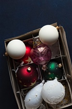 Christmas balls, decorations iPhone wallpaper
