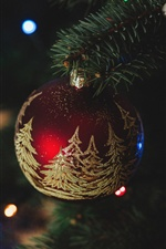 Christmas decorations, red ball iPhone wallpaper