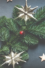 Christmas tree, stars, decorations iPhone wallpaper