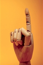 Finger gesture, wooden artworks iPhone wallpaper