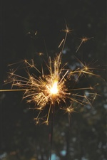Fireworks, sparks, holiday iPhone wallpaper