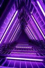 Ladder, purple lights iPhone wallpaper