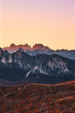 Mountains, peaks, Italy, Alps iPhone wallpaper