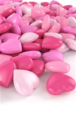 Pink love heart candy iPhone wallpaper