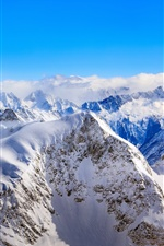 Snow covered mountains, winter iPhone wallpaper