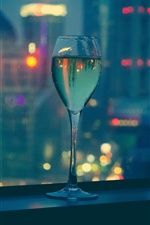 Wine, glass cup, night iPhone wallpaper