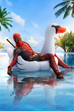 Deadpool 2, swim pool iPhone wallpaper