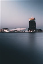 Amsterdam, Netherlands, sea, buildings, city iPhone wallpaper