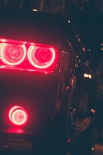 Car headlight, night iPhone wallpaper