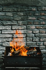 Firewood, fire, flame iPhone wallpaper