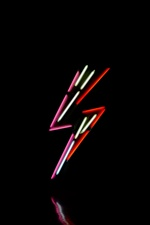 Neon light lightning iPhone wallpaper