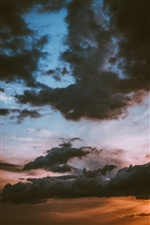Sky, sunset, clouds iPhone wallpaper