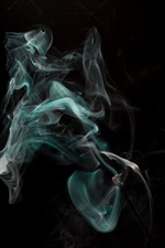 Abstract smoke, black background iPhone wallpaper