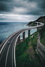 Bridge, road, sea iPhone Wallpaper