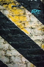 Graffiti wall, stripes iPhone Wallpaper