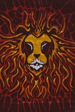 Lion art painting, graffiti iPhone wallpaper