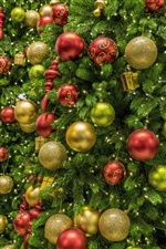 Many Christmas balls, decoration iPhone wallpaper