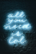 Neon lights, inscription, wall, night iPhone Wallpaper