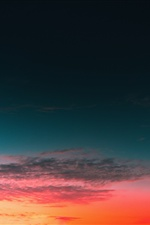 Sky, clouds, sunset iPhone wallpaper